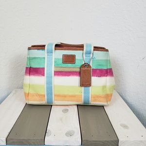 Coach | Authentic Hamptons Watercolor Striped Tote
